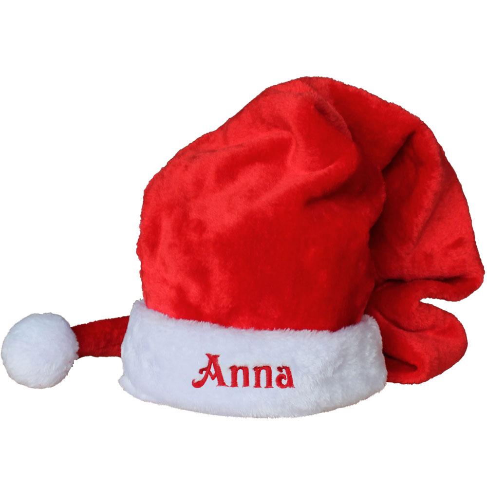 Immagini Di Natale Con Nomi.Cappello Babbo Natale Personalizzato Con Nome