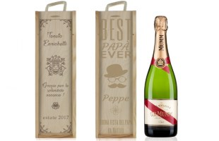 Cassa da vino personalizzata