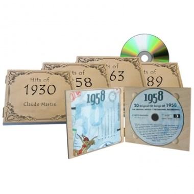 CD con le Hit dell'anno di nascita