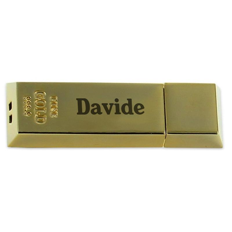 Penna USB a forma di lingotto d'oro