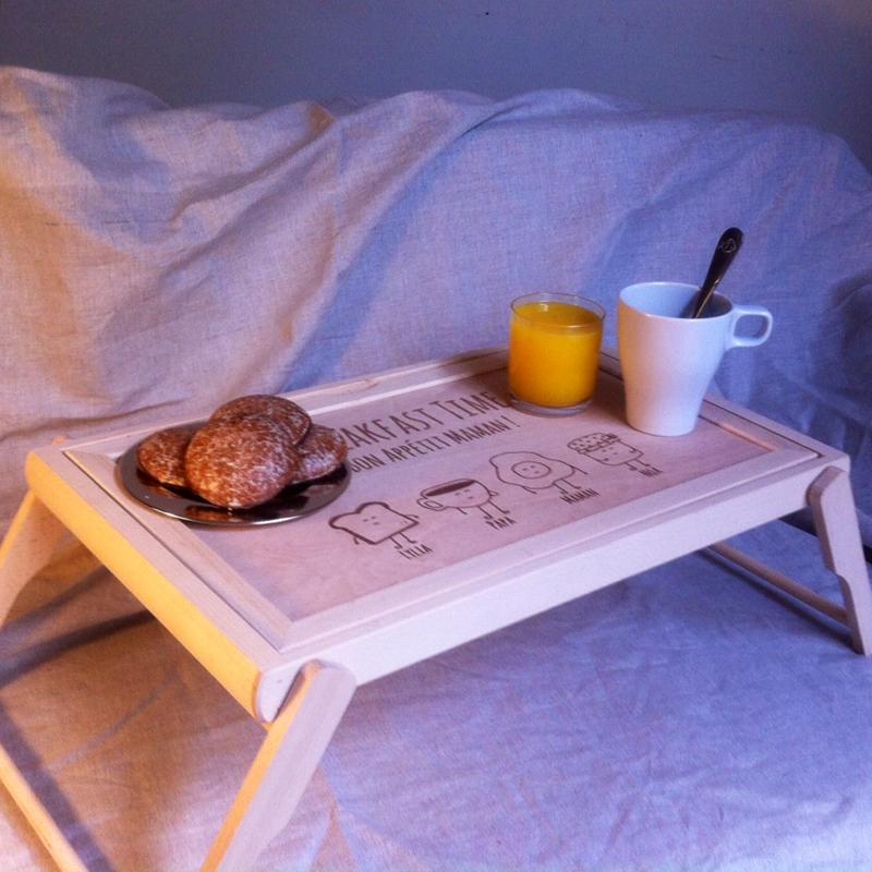 Vassoio personalizzato con foto e testo - Vassoio da letto colazione ...