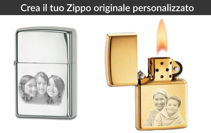 zippo personalizzato  Zippo Personalizzato - Accendino Zippo con Foto Incisa