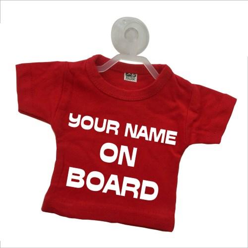 Mini t-shirt baby on board personalizzata