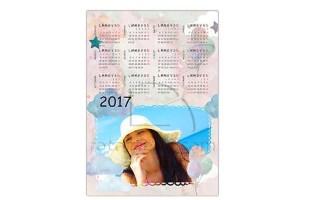 Calendario magnetico con foto