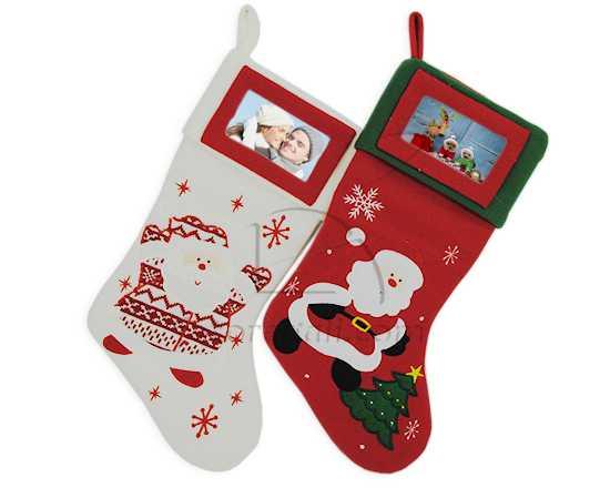 Calza natalizia con foto