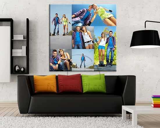 Foto collage su tela