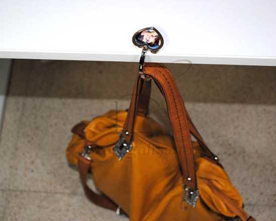 Gancio porta borsa con foto