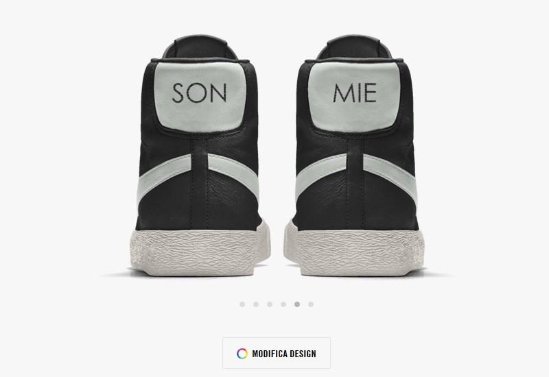 Scarpe sneakers personalizzate con nome