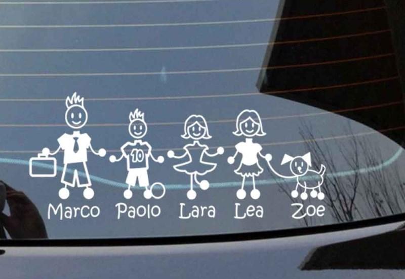 Adesivo famiglia per auto