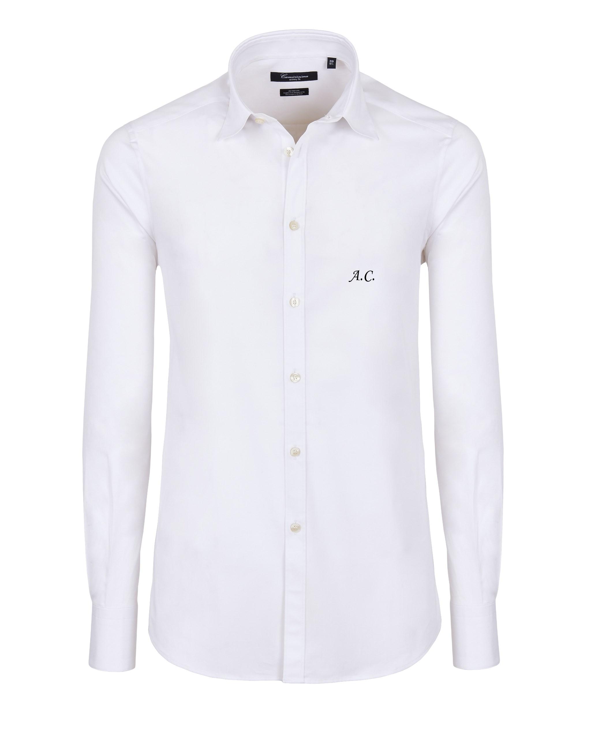 Camicia con iniziali ricamate