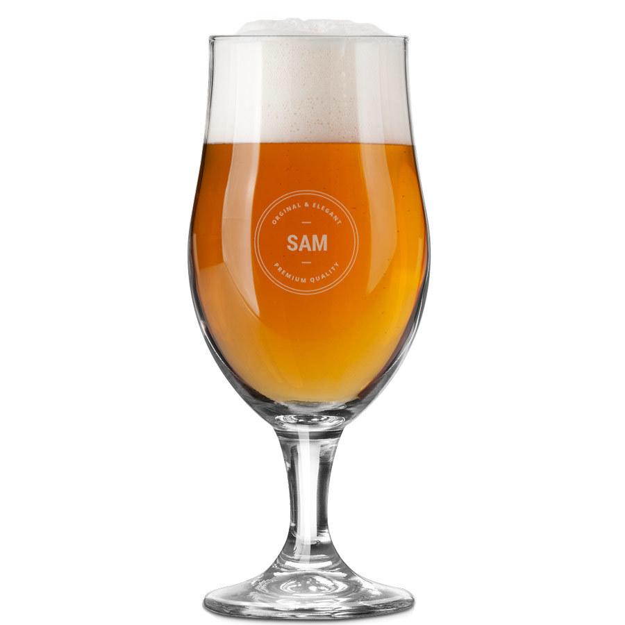 Bicchiere da birra con incisione