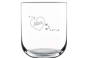 Bicchieri in vetro personalizzati