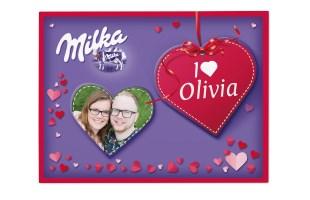 Confezione di cioccolato Milka personalizzata